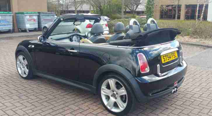 Mini 2004 Cooper S Supercharged Convertible Chilli Cabriolet Black