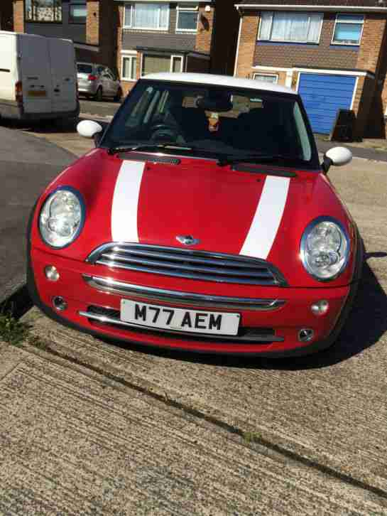 2004 MINI MINI COOPER RED HALF LEATHER, CHILLI PACK