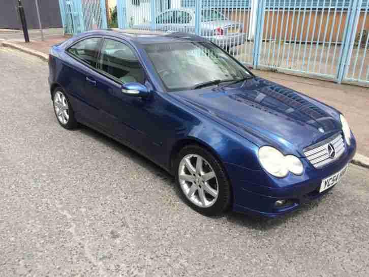 2004 mercedes c180 kompressor coupe blue car for sale. Black Bedroom Furniture Sets. Home Design Ideas