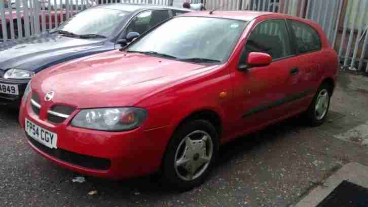 2004 NISSAN ALMERA S RED SPARES OR REPAIRS