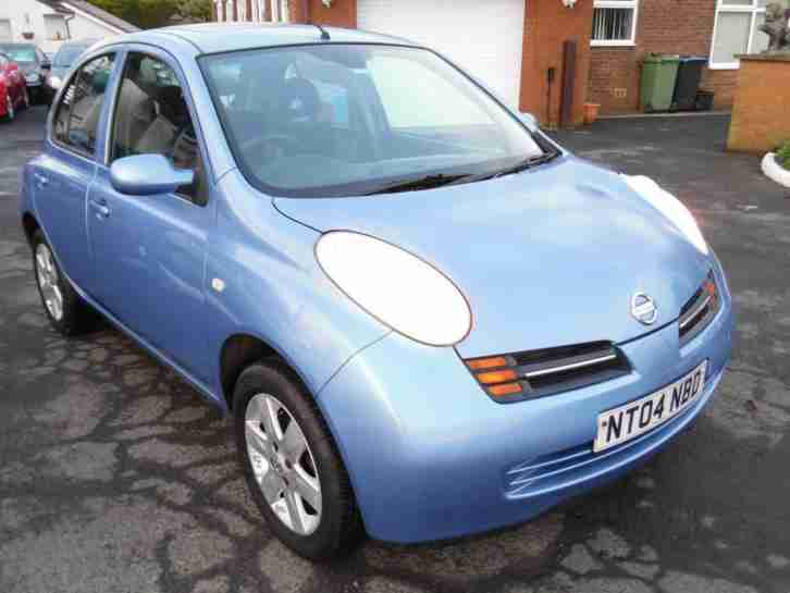 2004 NISSAN MICRA 1.2 16v SE 5 DOOR, METALLIC BLUE, NICE SPEC, LONG MOT