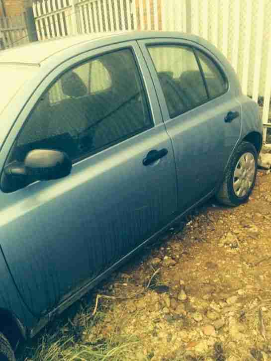 2004 NISSAN MICRA S BLUE SPARES OR REPAIR