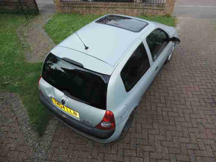 2004 RENAULT CLIO 1.2 EXTREME 3 16V SILVER PETROL DOOR HATCHBACK VEHICLE CAR 05