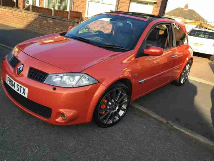 renault 2004 megane sport 225 orange 3 day auction car for sale. Black Bedroom Furniture Sets. Home Design Ideas