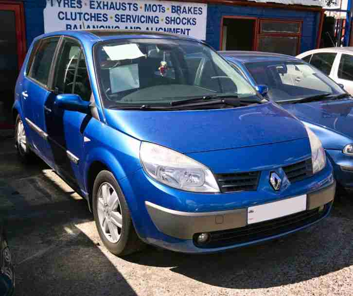 renault 2004 scenic dynamique vvt 136 2 0l blue mot to 2nd june car for sale. Black Bedroom Furniture Sets. Home Design Ideas