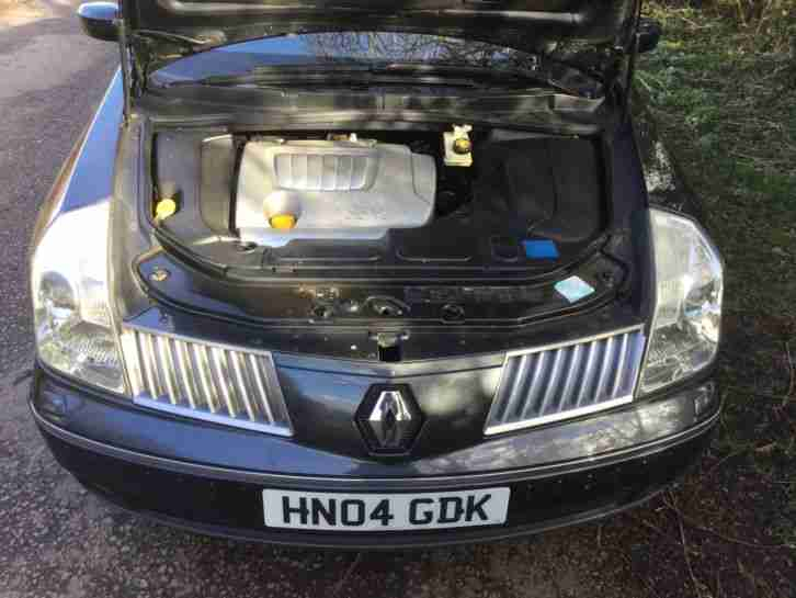 2004 RENAULT VEL SATIS PRIVILEGE V6 AU GREY, Black leather, Full MoT