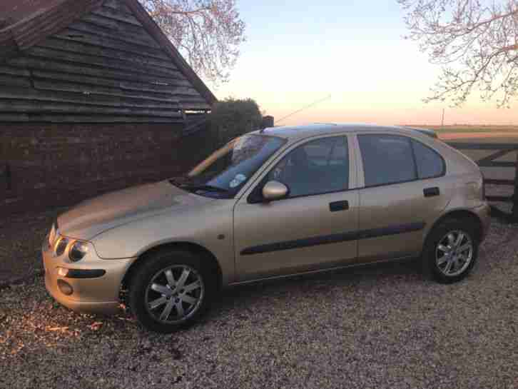 rover 2004 25 impression 3 gold low miles long mot car for sale. Black Bedroom Furniture Sets. Home Design Ideas