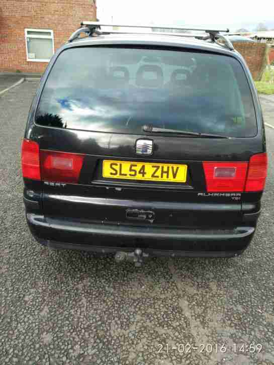 2004 SEAT ALHAMBRA STYLANCE TDI 130 BLACK 3 person camper conversion