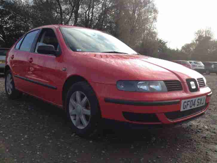 "2004 SEAT LEON S 16V RED ""MAIN DEALER PX NO RESERVE"" TO CLEAR"