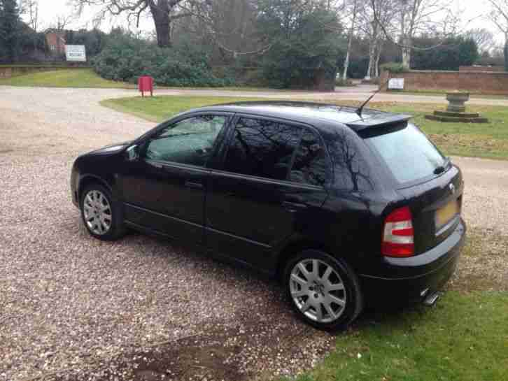 2004 SKODA FABIA VRS TDI PD 130 BLACK TAX & MOT **BARGAIN**HPI CLEAR*