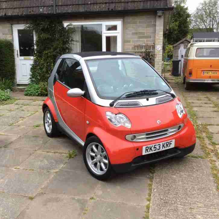 Smart 2004 CITY PASSION 61 AUTO SILVER RED CABRIOLET. Car