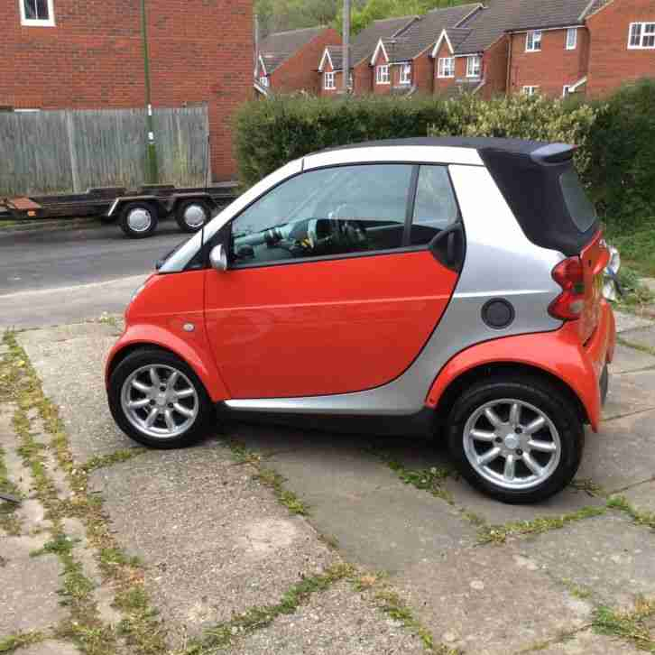 2004 SMART CITY PASSION 61 AUTO SILVER / RED CABRIOLET