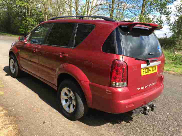 2004 SSANGYONG REXTON RX 290S5 TDI RED SPARES OR REPAIRS DOES DRIVE