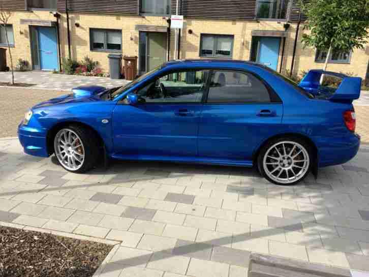 subaru 2004 impreza wrx sti type uk blue 6 speed car for sale. Black Bedroom Furniture Sets. Home Design Ideas