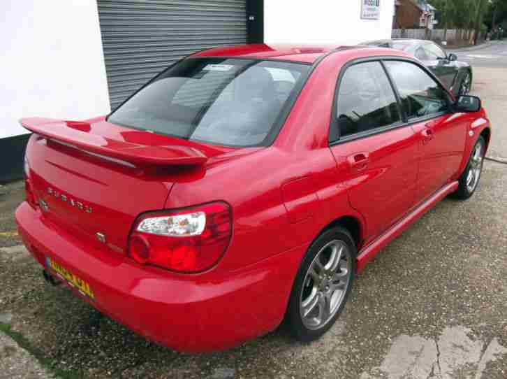 2004 SUBARU IMPREZA WRX TURBO RED 1 OWNER FROM NEW @@NO RESERVE AUCTION@@