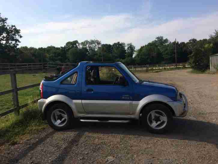 suzuki 2004 jimny 02 blue convertible car for sale. Black Bedroom Furniture Sets. Home Design Ideas
