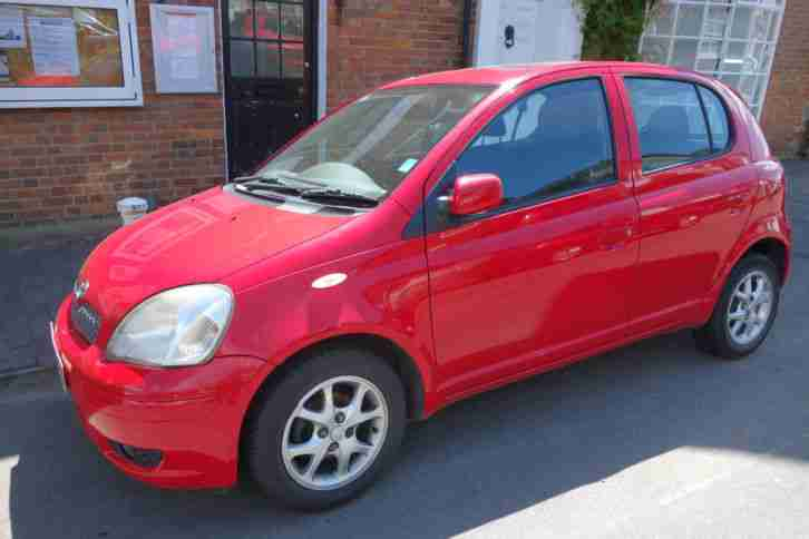 toyota 2004 yaris t spirit petrol red car for sale. Black Bedroom Furniture Sets. Home Design Ideas