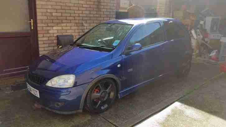 2004 CORSA SRI 16V BLUE RUNNING