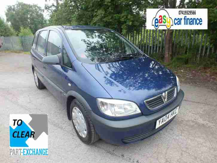 2004 VAUXHALL ZAFIRA LIFE 1.6 PETROL 5DR 7 SEATER PX TO CLEAR