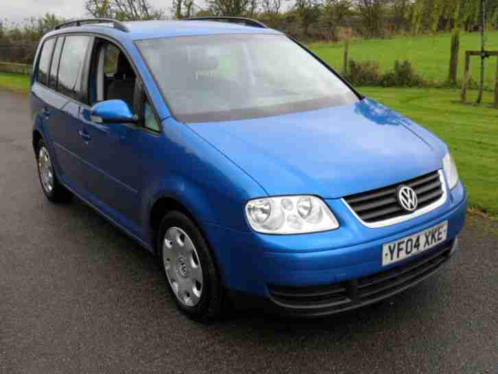 volkswagen 2004 touran se 1 9 tdi se 6 speed tahiti blue grey cloth. Black Bedroom Furniture Sets. Home Design Ideas