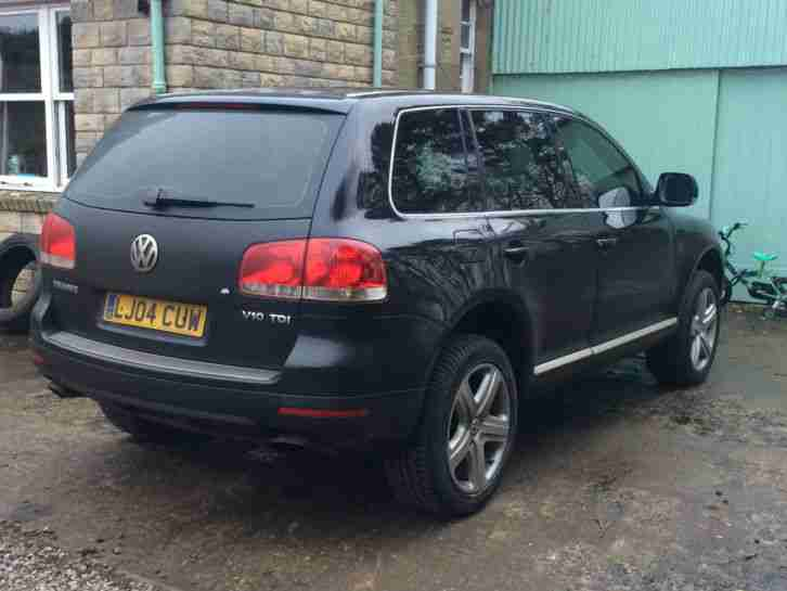 2004 vw touareg 5 0 v10 tdi auto black spares repairs electrical car for sale. Black Bedroom Furniture Sets. Home Design Ideas