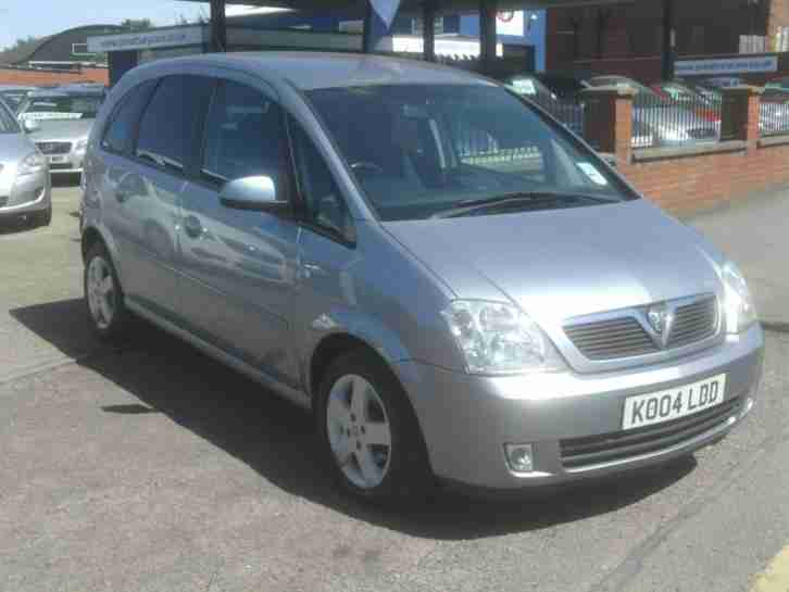 vauxhall 2004 opel meriva a c 2004my design silver mot feb. Black Bedroom Furniture Sets. Home Design Ideas