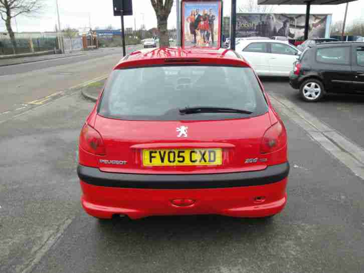 2005 05 PEUGEOT 206 1.4 LITRE HDi IN RED - FULL SERVICE HISTORY - DIESEL