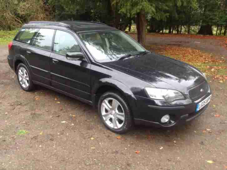 2005/05 SUBARU OUTBACK ESTATE RN AUTOMATIC in BLACK with AWD (4x4) and Sat Nav