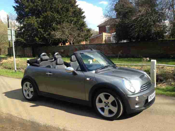 2005-54 MINI COOPER S CONVERTIBLE CABRIOLET GREY - 65,000 MILES, LONG MOT