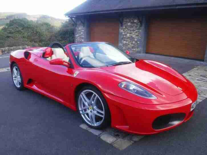 2005 55 FERRARI F430 4.3 F1 SPIDER AUTOMATIC RED CONVERTIBLE ONLY 23000 MILES
