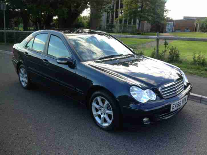 2005 55 mercedes c200 cdi classic se 2 1td black automatic black car for sale. Black Bedroom Furniture Sets. Home Design Ideas