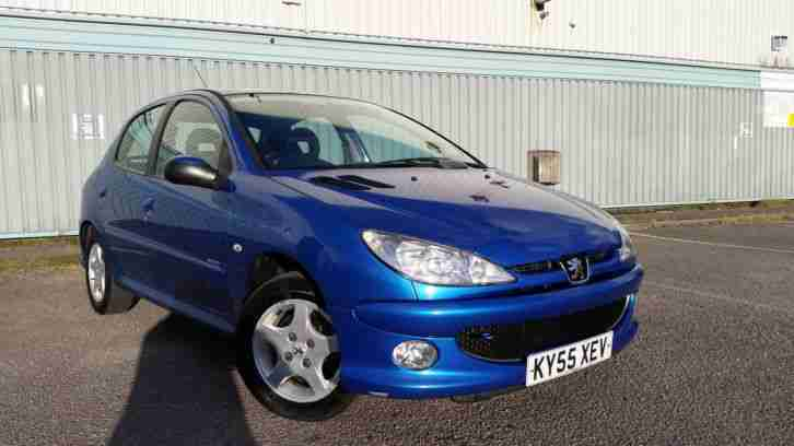 2005/55 PEUGEOT 206 1.4 VERVE 5 DOOR BLUE SMALL CAR POWER STEERING NEW MOT