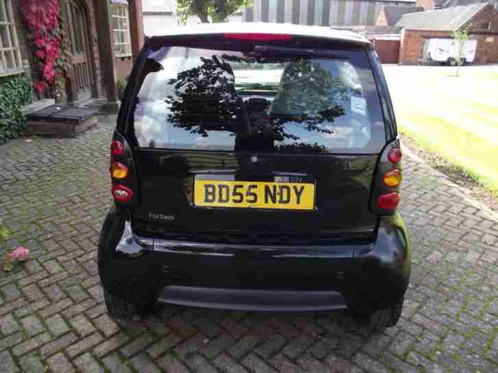 2005 55 SMART FORTWO PURE SEMI-AUTO 0.7 PETROL CAR IN BLACK