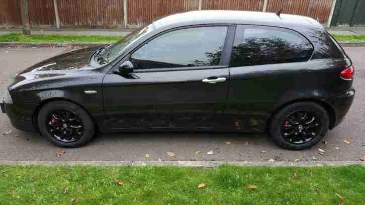 alfa romeo 2005 147 t spark lusso black car for sale