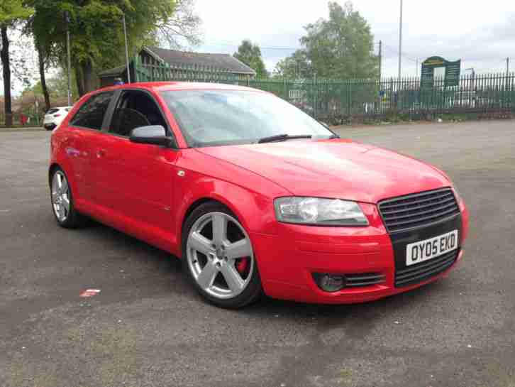 2005 AUDI A3 2.0 FSI SPORT S LINE SPEC 3 DOOR HATCHBACK RED LONG MOT HIGH SPEC