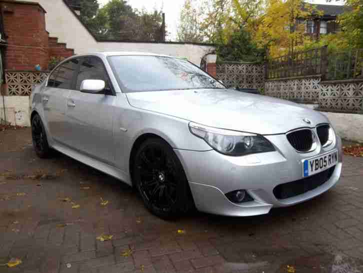 bmw 2005 530d sport auto silver m5 extras 19 alloys car for sale. Black Bedroom Furniture Sets. Home Design Ideas