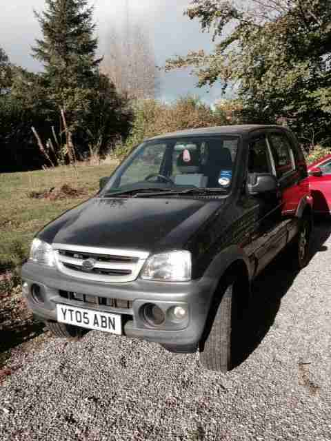 2005 DAIHATSU TERIOS TRACKER BLACK/GREY NON RUNNER SPARES OR REPAIR