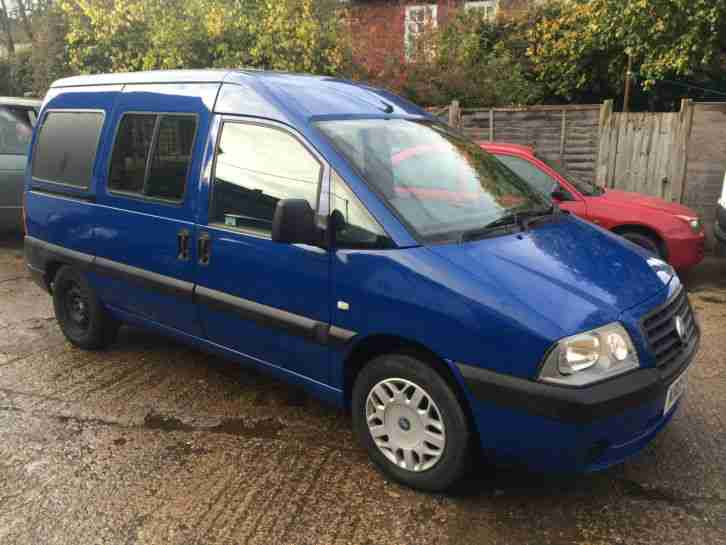 fiat 2005 scudo combi sx jtd blue 67k miles 12 month mot towbar. Black Bedroom Furniture Sets. Home Design Ideas