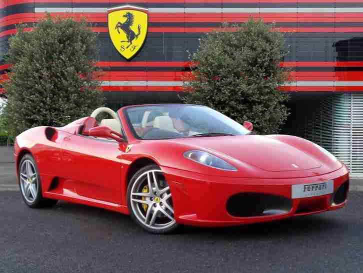 2005 F430 SPIDER MANUAL Petrol red