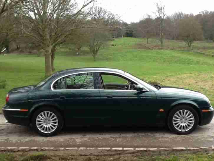 2005 JAGUAR S TYPE 2.7 DIESEL SE MOT FULL HISTORY BRITTISH RACING GREEN