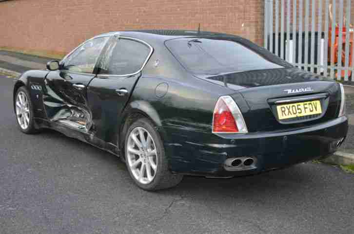 2005 MASERATI QUATTROPORTE AB4 S-A 400BHP GREEN SALVAGE DAMAGED UNRECORDED