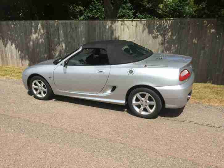2005 MG TF SILVER CLASSIC SPORTS CAR MG SOFT TOP