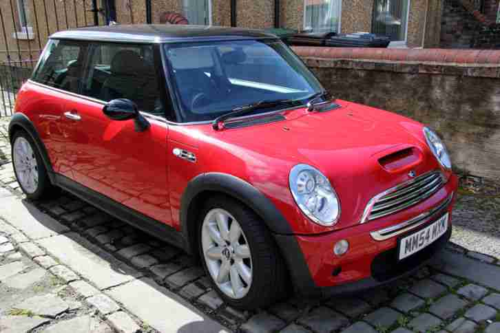 mini 2005 cooper s red car for sale. Black Bedroom Furniture Sets. Home Design Ideas