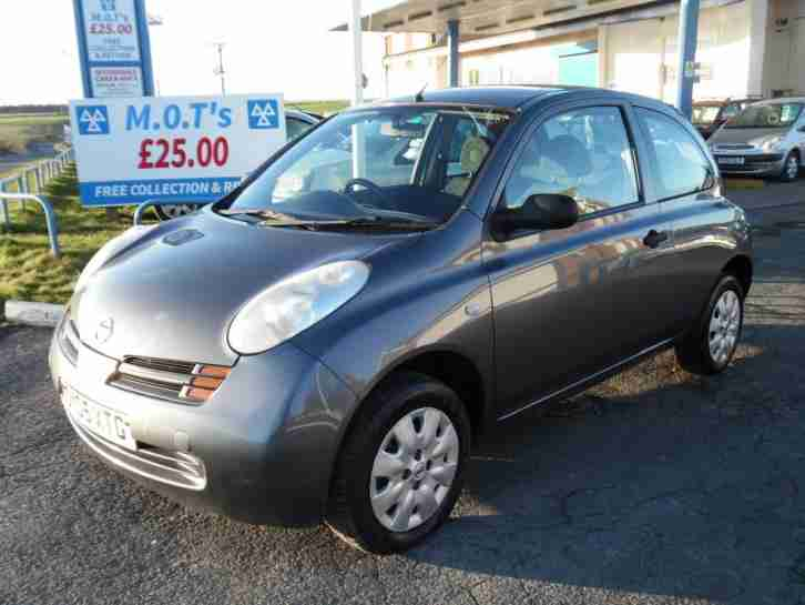 2005 NISSAN MICRA 1.2 16V S 3 DOOR IN TECHNO GREY, VERY CHEAP CAR