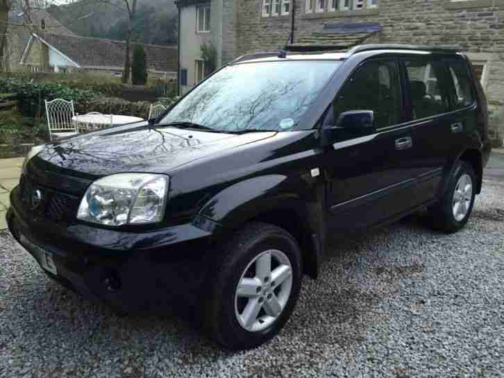 nissan 2005 x trail 2 2 se dci diesel black 12 months mot fsh 4x4. Black Bedroom Furniture Sets. Home Design Ideas