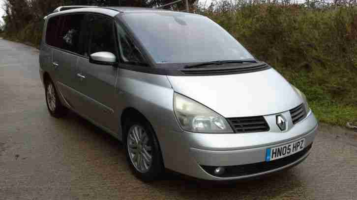 2005 RENAULT GRAND ESPACE DYNAMIQUE DCI SILVER SPARES OR REPAIR