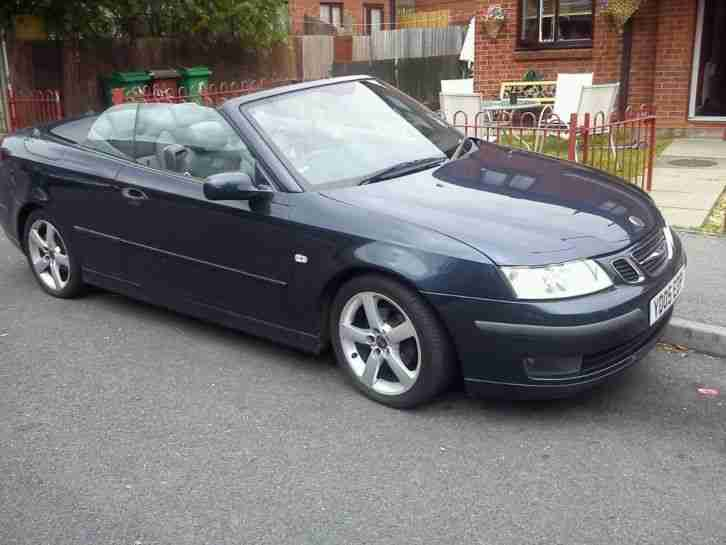 saab 2005 9 3 vector 175 bhp blue convertible car for sale. Black Bedroom Furniture Sets. Home Design Ideas