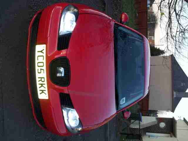 2005 SEAT IBIZA SPORT 16V RED, NO RESERVE relisted due to time waster!!!