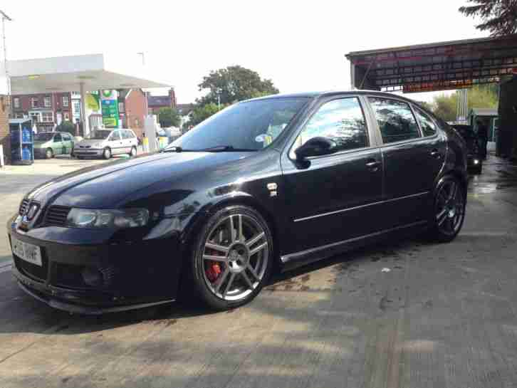 seat 2005 leon cupra r 20vt 225bhp bam fr black petrol car for sale. Black Bedroom Furniture Sets. Home Design Ideas