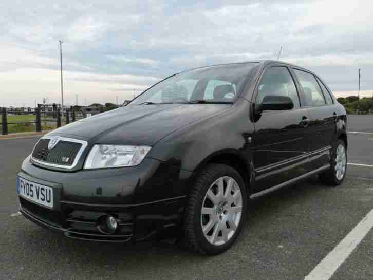 skoda 2005 fabia vrs tdi pd 130 black car for sale. Black Bedroom Furniture Sets. Home Design Ideas